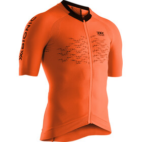 X-Bionic The Trick G2 Maillot de cyclisme Manches courtes Zip Homme, trick orange/arctic white